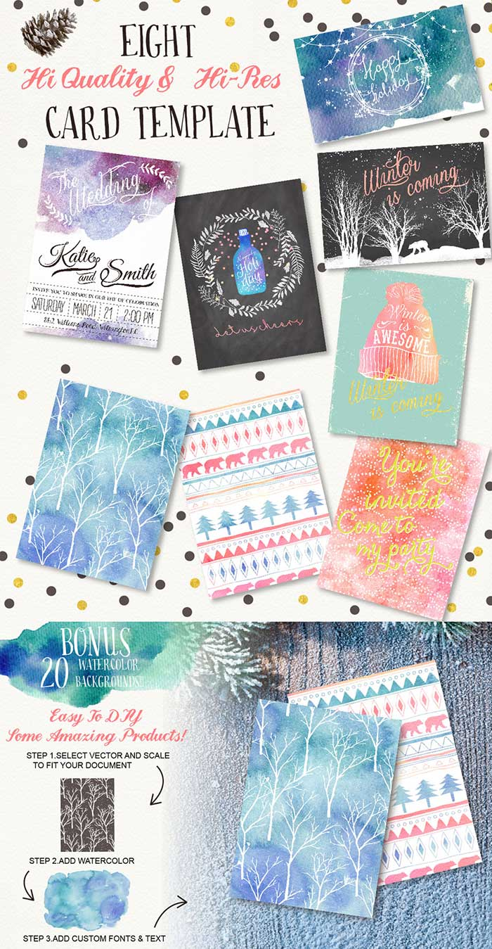 6 Christmas greeting cards set from Design Box