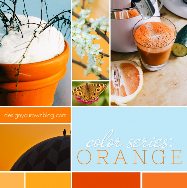 DesignYourOwnBlog.com Color Series - Orange, the controversial hue and how to use it in your blog's design