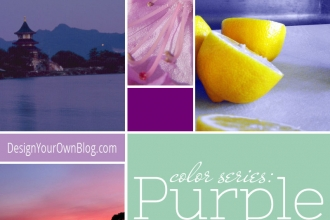 DesignYourOwnBlog.com Color Series - Purple + Radiant Orchid, the color of the year 2014 and how to use it in your blog's design