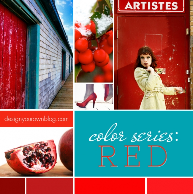 DesignYourOwnBlog.com Color Series - How Red Makes you Feel Excited, Angry and Passionate. And how to use it in your blog's design