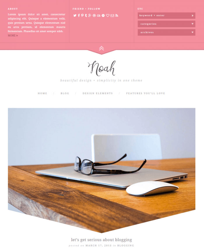 Noah WordPress Theme by Creative Whim