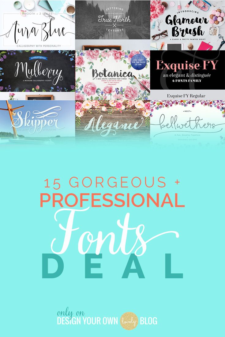 15 Professional Quality, Hugely Versatile Font Families (Plus Web Fonts) Just $15