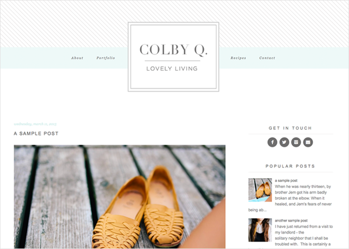 Colby Q WordPress Theme by Designer Blogs