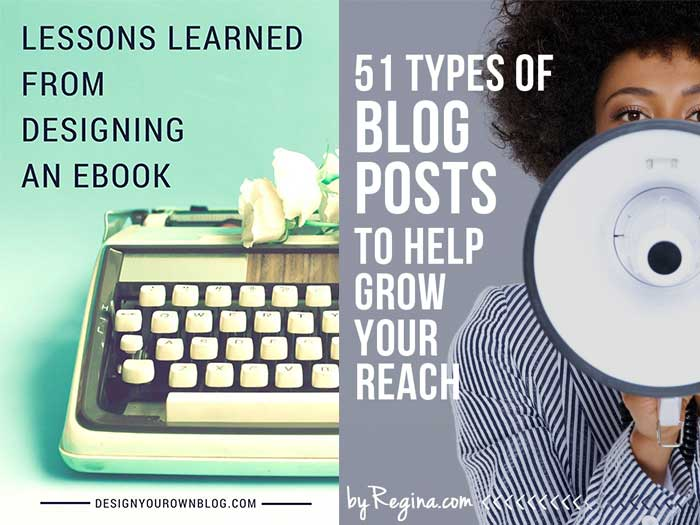 Make blog post titles images easy to read on Pinterest. From 10 Sure Fire Ways to Create Attention-Grabbing Images for Pinterest to Increase Traffic on DesignYourOwnBlog.com