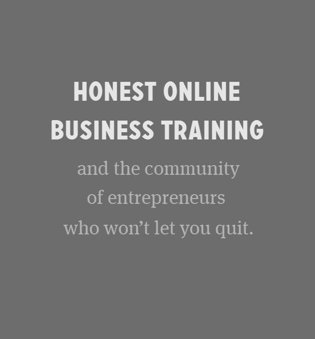 Fizzle - honest online business training and the community of entrepreneurs who won't let you quit.