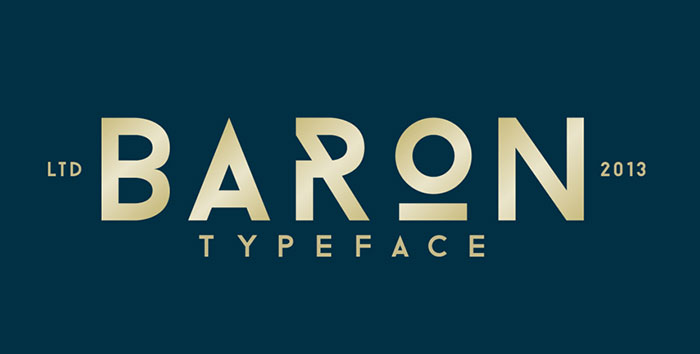 Baron free geometric font. See more fonts like this at www.designyourownblog.com