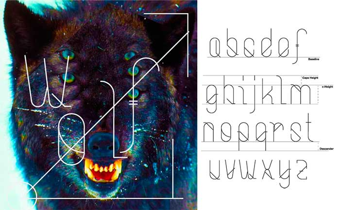 Bouh free geometric font. See more fonts like this at www.designyourownblog.com
