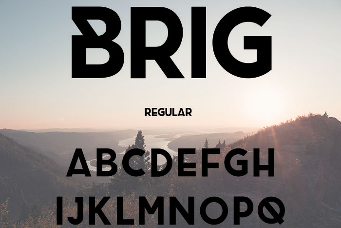 Brig free geometric font. See more fonts like this at www.designyourownblog.com