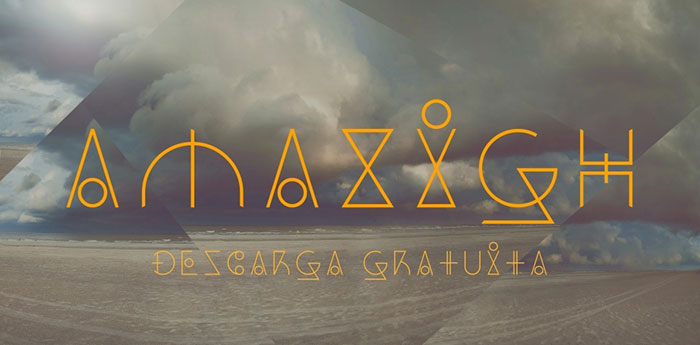 Dos Amazigh free geometric font. See more fonts like this at www.designyourownblog.com