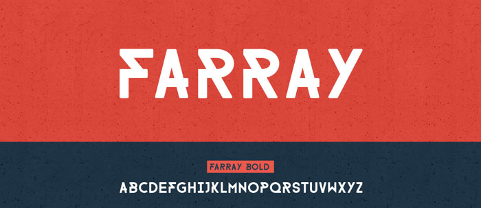 Farray free geometric font. See more fonts like this at www.designyourownblog.com