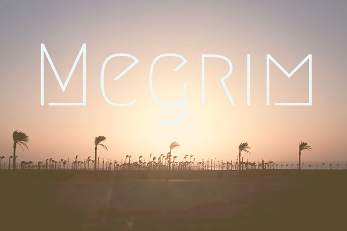 Megrim free geometric Google font. See more fonts like this at www.designyourownblog.com