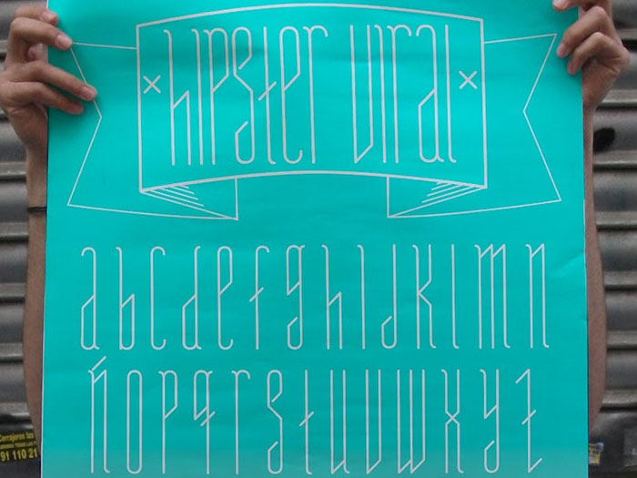 Hipster Viral free geometric font. See more fonts like this at www.designyourownblog.com