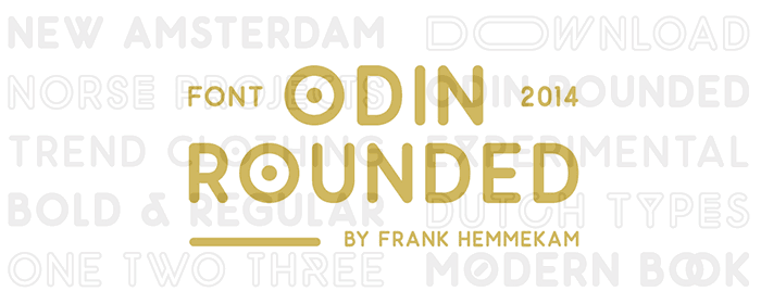 Odin Rounded free geometric font. See more fonts like this at www.designyourownblog.com
