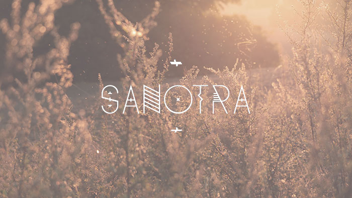 Sanotra free geometric font. See more fonts like this at www.designyourownblog.com