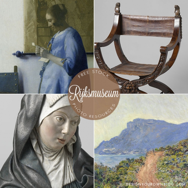 Free public domain stock photography from Rijksmuseum. From The BIG Guide to Free Stock Photo Resources: Part 1 Public Domain on DesignYourOwnBlog.com.