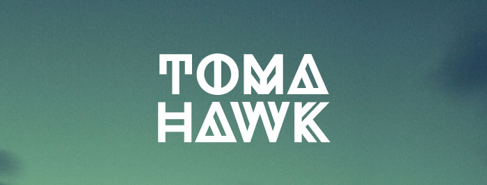 Tomahawk free geometric font. See more fonts like this at www.designyourownblog.com