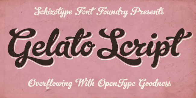 Gelato Script, one of 20 beautiful fat brush scripts at DesignYourOwnBlog.com