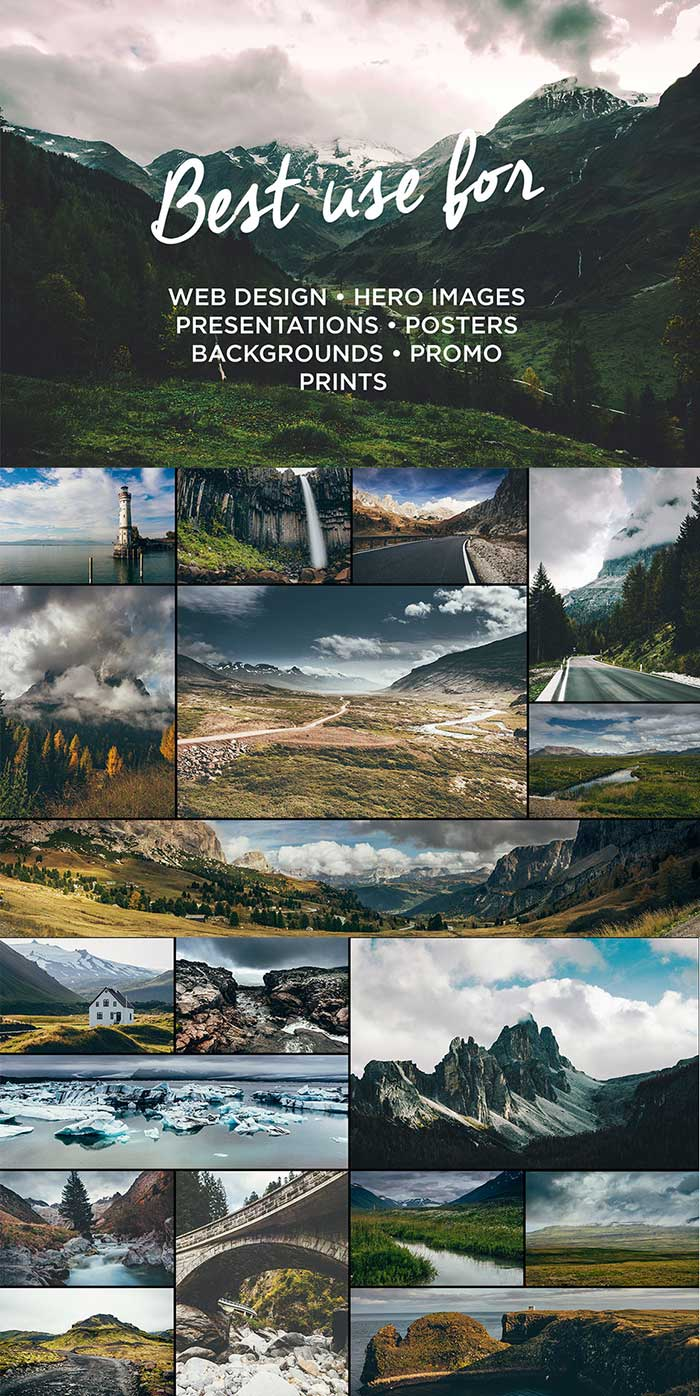 Go Explore Nature photo pack from Made by Vadim