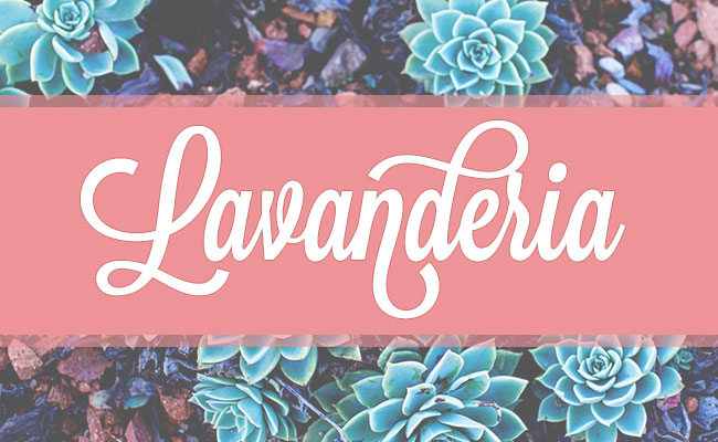 Lavanderia, a free font is one of 20 beautiful fat brush scripts at DesignYourOwnBlog.com