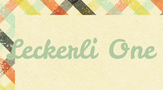 Leckerli One, a free font is one of 20 beautiful fat brush scripts at DesignYourOwnBlog.com