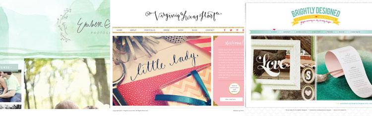 lovely blog design inspiration