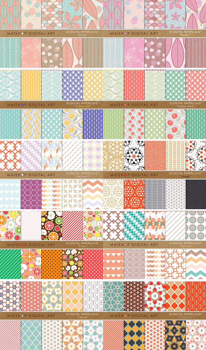 900+ pattern backgrounds from Maishop for just $19