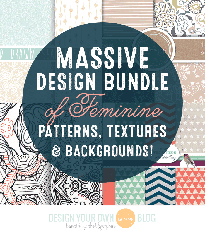 Massive Design Bundle of Feminine Patterns, Textures + Backgrounds! Just $25! http://bit.ly/design-cuts-patterns