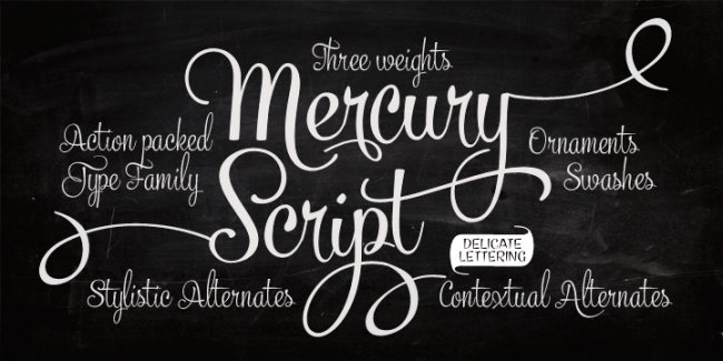 Mercury Script, one of 20 beautiful fat brush scripts at DesignYourOwnBlog.com