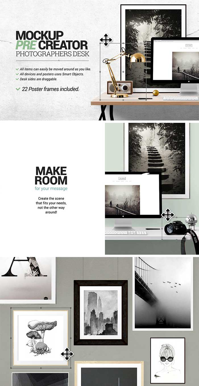 Mockup Pre Creator – Photographers desk by Place.to