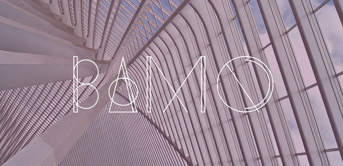 Bamq geometric font. See more fonts like this at www.designyourownblog.com
