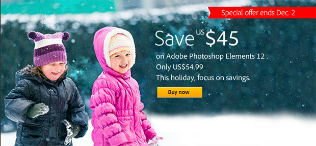 Photoshop Elements 12 discount