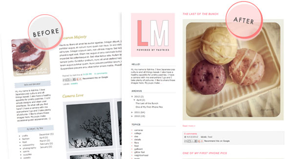Lemon Meringue Free Blogger Template
