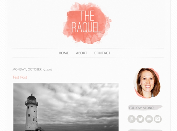 The Raquel Blogger template. See more watercolor themes and templates at DesignYourOwnBlog.com