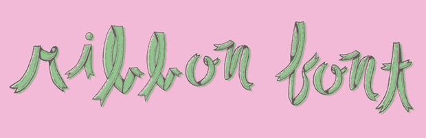 Ribbon font by Karli Ingersoll