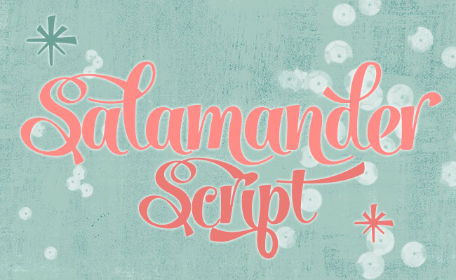 Salamander Script, one of 20 beautiful fat brush scripts at DesignYourOwnBlog.com