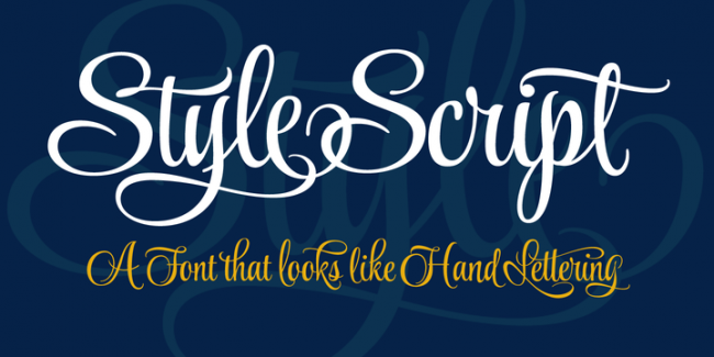 Style Script, one of 20 beautiful fat brush scripts at DesignYourOwnBlog.com