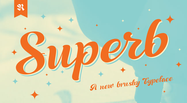 Superb Script, one of 20 beautiful fat brush scripts at DesignYourOwnBlog.com