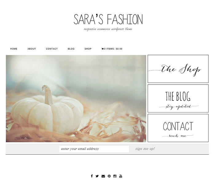 Sarah's Fashion eCommerce WordPress Theme by Themefashion