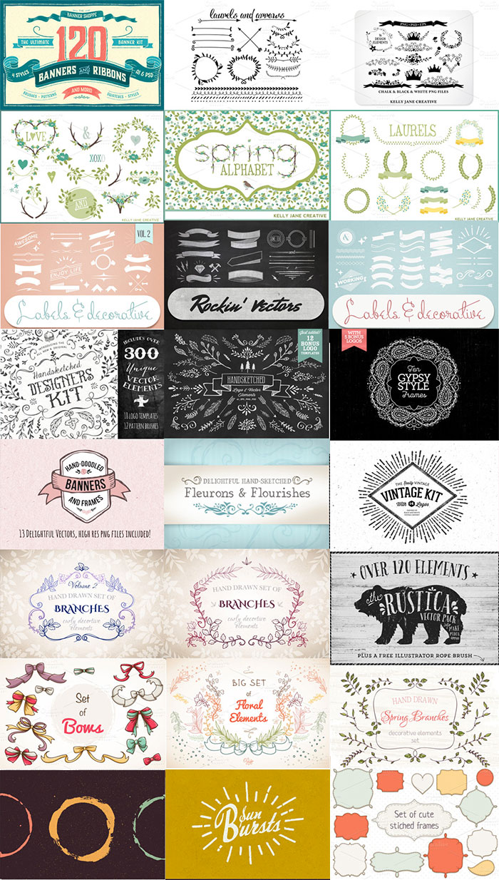 A sampling of the Biggest, Most Creative Vector Collection Ever for just $29