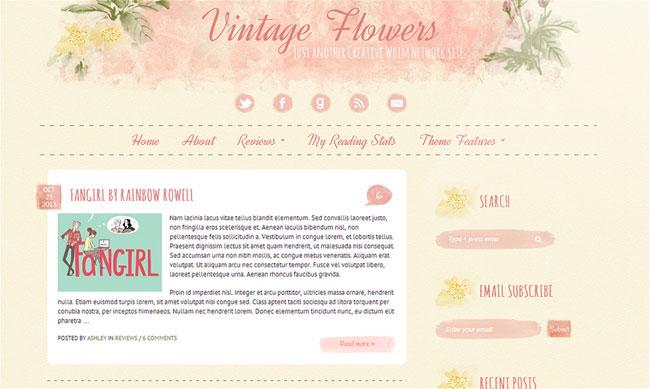 Vintage Flowers A WordPress Theme