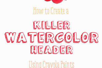 How to Create a Killer Watercolor Header Using Crayola Paints and an iPhone - another blog design tutorial on DesignYourOwnBlog.com