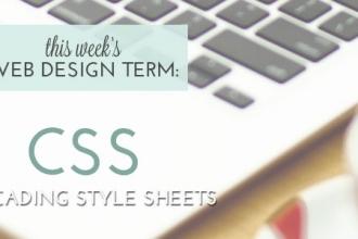 This Week's Web Design Term: CSS