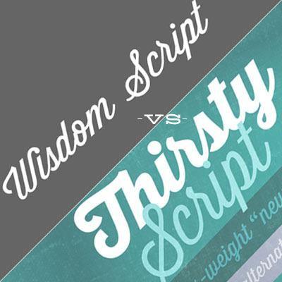 Font-Fight: Wisdom Script vs Thirsty Script - www.designyourownblog.com
