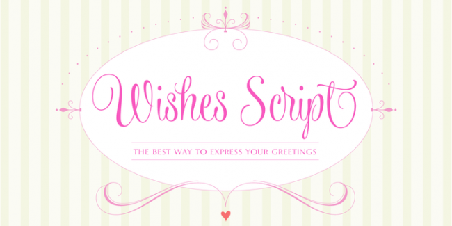 Wishes Script, one of 20 beautiful fat brush scripts at DesignYourOwnBlog.com